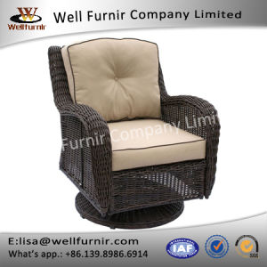 Well Furnir J007 Outdoor Rattan Swivel Chair with Cushion pictures & photos