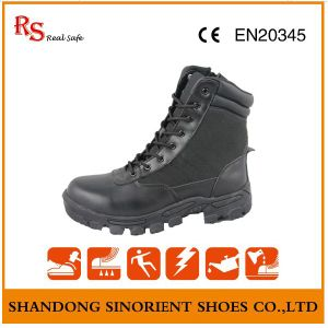 Military Desert Boots with Black Action Leather RS036 pictures & photos