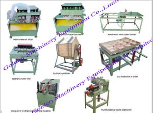 Chinese Bamboo Toothpick Stick Making Production Machine Line pictures & photos