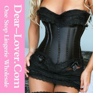 Hot Sale Sexy Leather Corset Lingerie pictures & photos