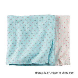 Promotional Infants Cotton Sleeping Nursing Cover Receiving Blanket pictures & photos