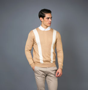 Men′s Fashion Cashmere Blend Sweater 17brpv090 pictures & photos