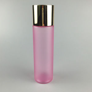 High Quality 150ml Pet Plastic Pink Rose Water Cylinder Cosmetic Bottle