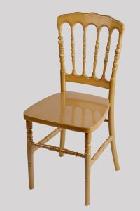 Light Gold Resin Plastic Wedding Banquet Rental Napoleon Chair pictures & photos