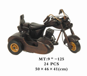 Wooden Vehicle Model Set Kids Construction Toy Motorcycle
