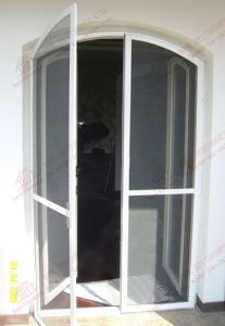 Aluminium Arch Steelwire Mesh Flyscreen Door (BHN-CD08) pictures & photos