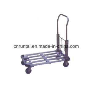 Steel Foldable Four Wheels Platform Hand Truck pictures & photos