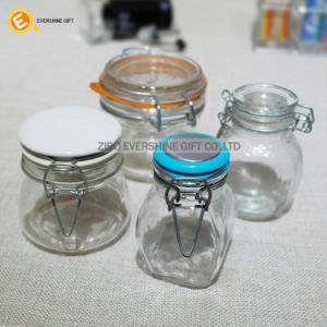 Glass Clip Top Spice Storage Preserving Jars with Ceramic Cap pictures & photos