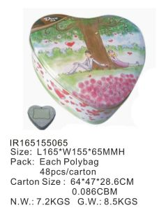 Heart Shape Gift Tin Box with Custom Printing pictures & photos
