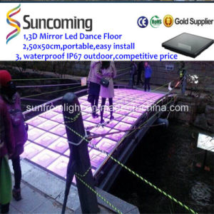 Wholesale LED Lights New Products 3D Mirror LED Event Flooring pictures & photos