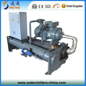 40HP Plastic Machinery Semi-Hermetic Water Cooled Screw Chiller pictures & photos