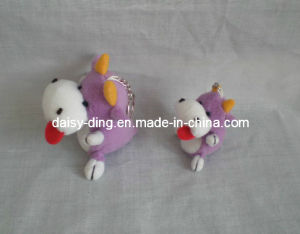 Plush Purple Standing Cow with Keychain pictures & photos