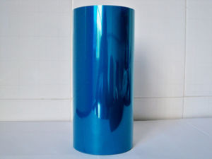 Chip Dyed Blue Color Pet Film, Blue Polyester Film for Label, Insulation Pet Film