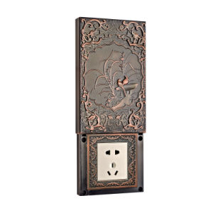 Brass Wall Power Socket Sliding Cover pictures & photos