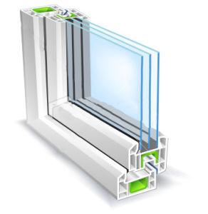 China Aluminium Triple Glazed Window Aluminium Triple