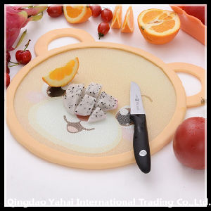 Round Tempered Glass Cutting Board with Silicone Ring pictures & photos