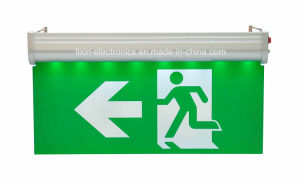 Hanging Type Edge-Lit Aluminum Housing Double Face Running Man Exit Light pictures & photos