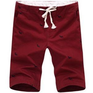 Spring Men Embroidered Straight Middle-Waist Slim Leisure Fifth Short Pants pictures & photos