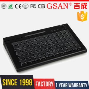 78 Keys POS Programmable Keyboard with Mag Card Reader pictures & photos