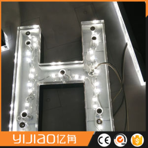 Mirror Polished Letter with Acrylic Backlit LED Sign pictures & photos