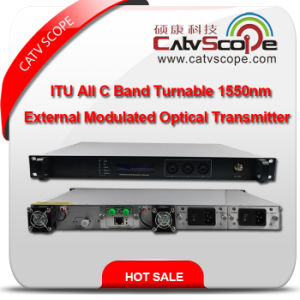 High Performance Itu All C Band Turnable CATV 1550nm External Modulated Optical Laser Transmitter pictures & photos