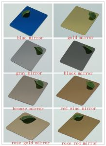 Black Mirror Stainless Steel Sheet (No. 8 & 8K Surface Finish) pictures & photos