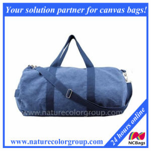 Navy Cotton Canvas Small Travel Duffel Bag pictures & photos