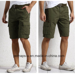 Fashion Mens Army Green Cotton Cargo Pants pictures & photos