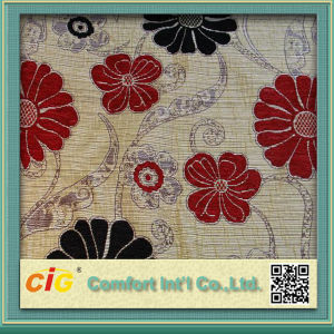 Jacquard Sofa Fabric Made of Polyester Chenille Materiel pictures & photos