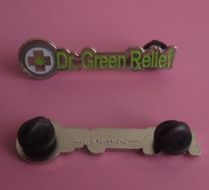 Die Cut Letters Pin Badge with 2 Butterfly Clutches pictures & photos
