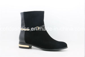 Hot-Sale Comfortable Fashion Flat Lady Ankle Boot pictures & photos