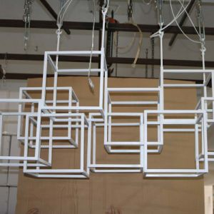 European White Polygon Framework Stainless Steel Pendant Lamp pictures & photos
