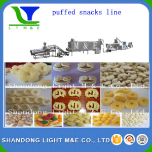 Inflating Extrusion Snacks Food Corn Puff Processing Line pictures & photos