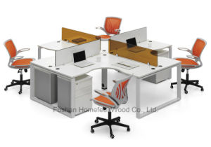 Modern Office Furniture 3 Seats Office Cubicle Workstation (HF-BSD030) pictures & photos