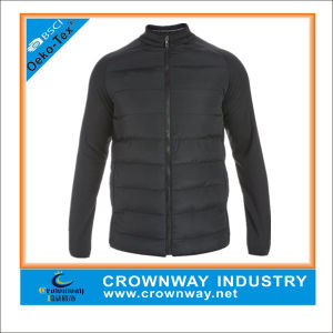 Mens Winter Padded Quilted Jacket with Matte Nylon Fabric pictures & photos