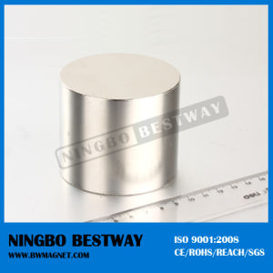 50mm NdFeB Cylinder Nickel Magnet N52 pictures & photos