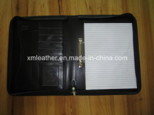 PU Leather Document File Folder with Ring Binder pictures & photos