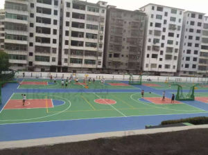 Silicon PU Soft Rubber Basketball Court pictures & photos