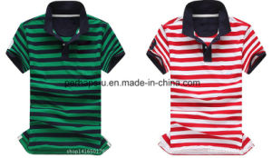 Fashion Mens Stripe Golf Polo Shirt pictures & photos