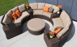 Patio Rattan Wicker Sofa Set Round Outdoor Patio Furniture