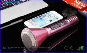2016 New Bluetooth Speaker Microphone Portable Karaoke Player pictures & photos