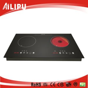 Hot Sale Built-in Two Burners Induction Cooker and Infrared Cooker with CB/Ce Certificate Model Sm-Dic12 pictures & photos