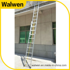 Aluminum Grooved Rails Telescopic Combination Ladder pictures & photos