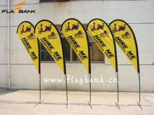 Exhibition Single or Double Sided Printing Teardrop Flag/Beach Flag pictures & photos
