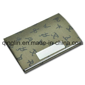 Custom Fine Quality Pattern PU Leather Business Card Case (QL-MPH-0013) pictures & photos