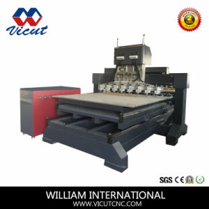 Multi-Head Flat and Rotary Wood Carving Machine Woodworking Machine pictures & photos