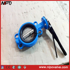 Cast Iron Wafer Type Butterfly Valve in Handle /Worm Gear pictures & photos