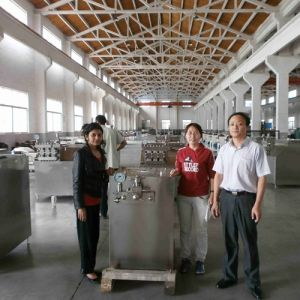 3000L/H Hand Operated Soybean High Pressure Homogenizer pictures & photos