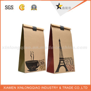 Custom Eco-Friendly Coffee Kraft Paper Carrier Bag pictures & photos