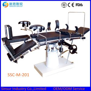 ISO/Ce Approved China Fluoroscopic Hospital Manual Multi-Function Hydraulic Operating Tables pictures & photos